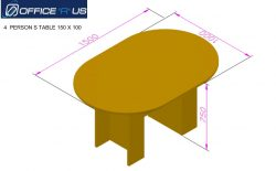 1500 X 1000 Ovel Conference table