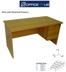 Economical Desk With Attached Drawer