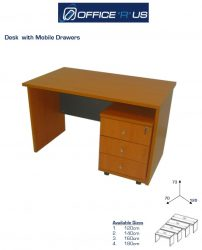 Economical Desk With Mobile Drawer