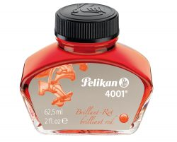 Pelikan 4001 Bottled Ink for Fountain Pens, Brilliant Red, 62.5ml, (329169)