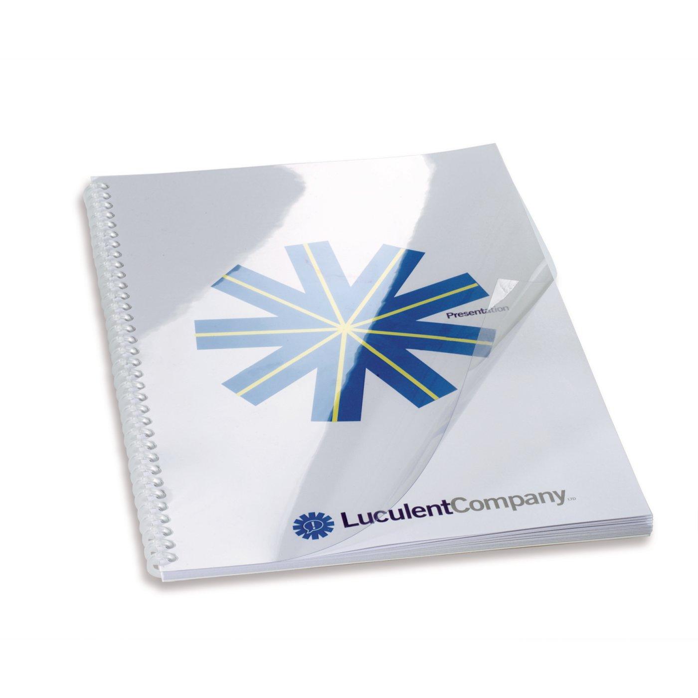 HiClear Binding Covers A4 PVC 150 Micron Clear (50) 41600E