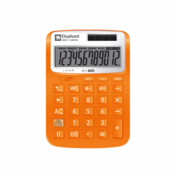 183219 - ELEPHANT ILLUMIX CALCULATOR DESKTOP M01-12D - ORANGE