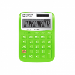 183202 - Elephant Illumix Calculator Desktop M01-12d - Green