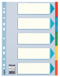 100191 - ESSELTE - DIVIDER CARD A4 5 TABS
