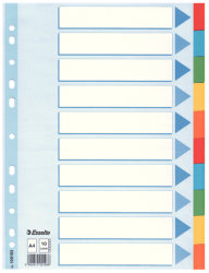 100193 - Esselte - Divider Card A4 10 Tabs