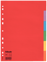 100200 - Esselte - Divider Card Eco A4 6 Tabs